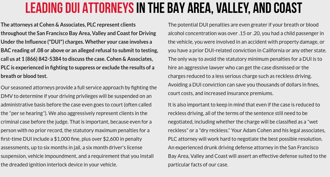 LEADING DUI ATTORNEYS